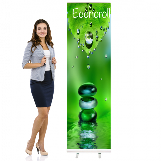 "Econoroll Retractable Banner Stand 24"" Wide x 80"" Tall"