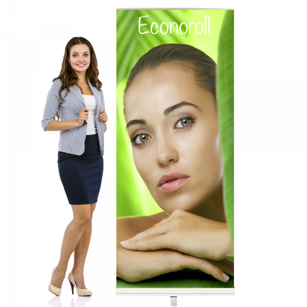 """Econoroll Retractable Banner Stand 36"""" Wide x 80"""" High"""
