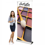 """Maui Retractable Banner Stand 34"""" Wide x 69"""" to 92"""" High"""