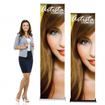 "Silverstep Retractable Banner Stand 2ft Wide, 85"" - 92"" High"