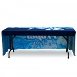 Table Throw 6ft 3-Sided with Open Back, Durable Custom Printed Fabric