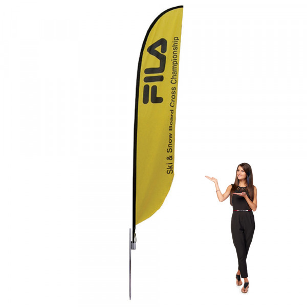 Feather Flag 16 ft Outdoor With Spike Base