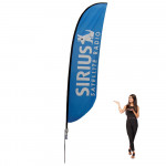 Feather Flag 17 ft Outdoor With Spike Base