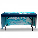 Table Throw 4ft 3-Sided with Open Back, Durable Fabric