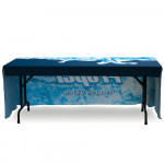 Table Throw 8ft 3-Sided Full Cover, Durable Printed Fabric