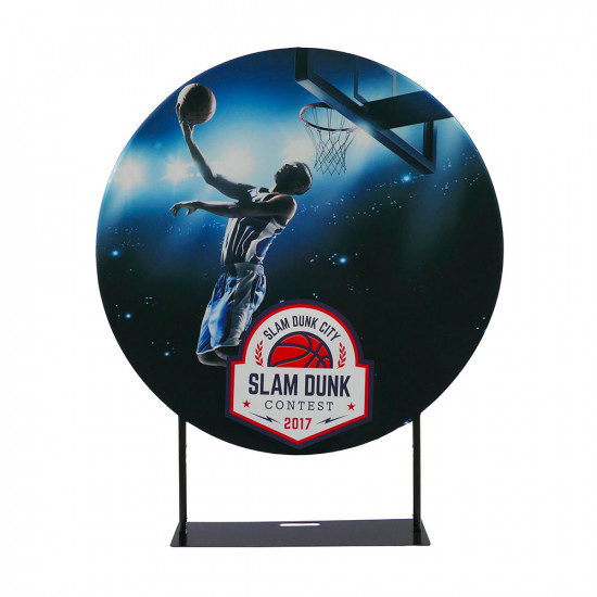 EZ Circle Banner Display 5ft Diameter with Tension Fabric Graphics