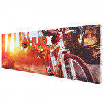 RPL Fabric Pop Up Display 20ft Straight with Custom Graphics