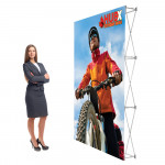 RPL Fabric Popup Display 5ft Straight Frame with Fabric Graphic