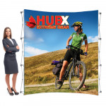RPL Pop Up Display 8ft Curved with Tension Fabric Graphic