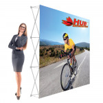 RPL Pop Up Display 8ft Straight with Tension Fabric Graphic