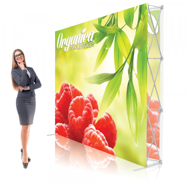 Ready Pop Double Sided Popup Display 10ft Straight with Graphics