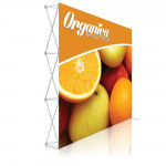 Ready Pop Popup Display Booth 8ft Straight with Fabric Graphic