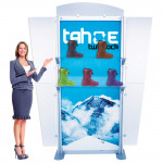 Tahoe Twistlock Modular Display 3ft x 8ft with SEG Graphics