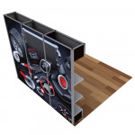 Alpine SEG Modular Display with Shelves  10ft wide Kit D