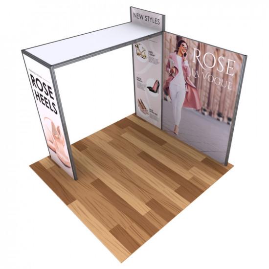Alpine SEG Modular Booth Display 10' x 10' with Fabric Graphics - Kit A
