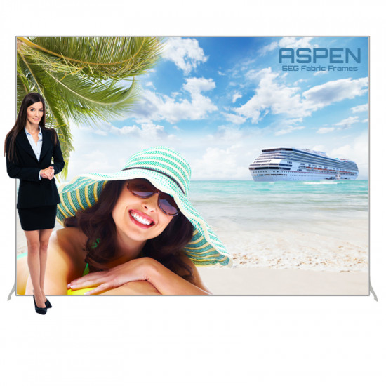 Aspen SEG Backdrop Display 10ft x 7.5ft with Printed Banner