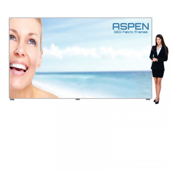 Aspen Large SEG Backdrop Display 15ft x 7.5ft with Printed Banner