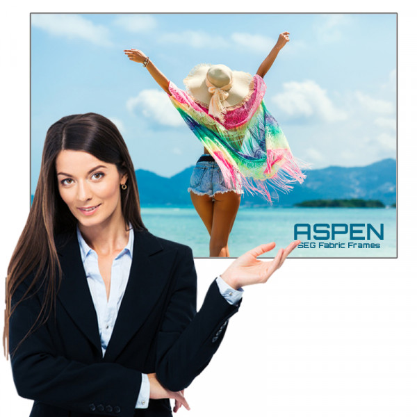 Aspen SEG Tension Fabric Frame 2ft x 3ft with Single Sided Graphics