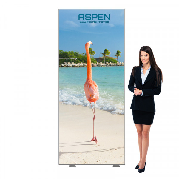 Aspen SEG Fabric Sign Frame 3ft x 7ft with Silicone Edge Graphics