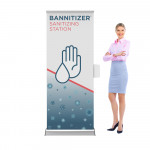 Bannitizer Banner Stand Display with Sanitizer Dispenser