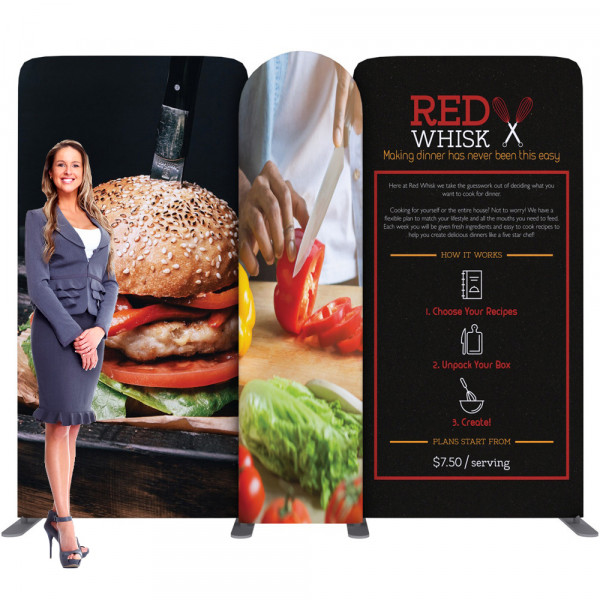 EZ Tube Connect Backdrop 10ft Kit C, Includes Printed Graphics