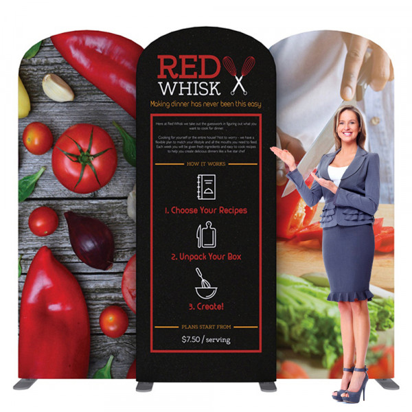EZ Tube Connect Backdrop 10ft Kit I, Includes Printed Graphics