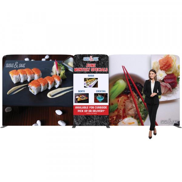 EZ Tube Connect Backdrop 20ft Kit F, Custom Printed Graphics