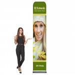 EZ Extend Fabric Banner Stand 2 ft wide x 11.5 ft tall