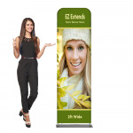 EZ Extends Fabric Banner Stand 2 ft wide x 6.5 ft tall