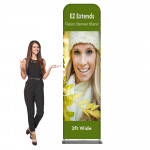 EZ Extends Fabric Banner Stand 2 ft wide x 8.5 ft tall