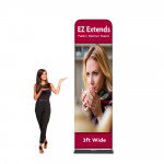 EZ Extends Fabric Banner Stand 3 ft wide x 10.5 ft tall