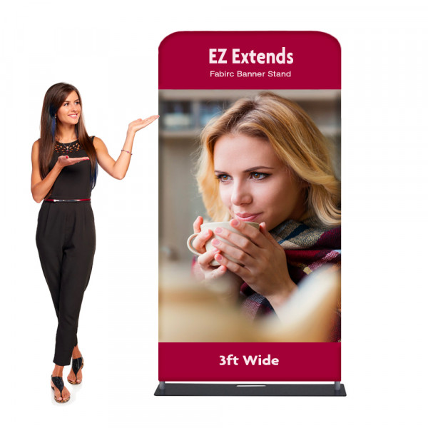 EZ Extends Fabric Banner Stand 3 ft wide x 6.5 ft tall