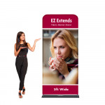 EZ Extends Fabric Banner Stand 3 ft wide x 7.5 ft tall