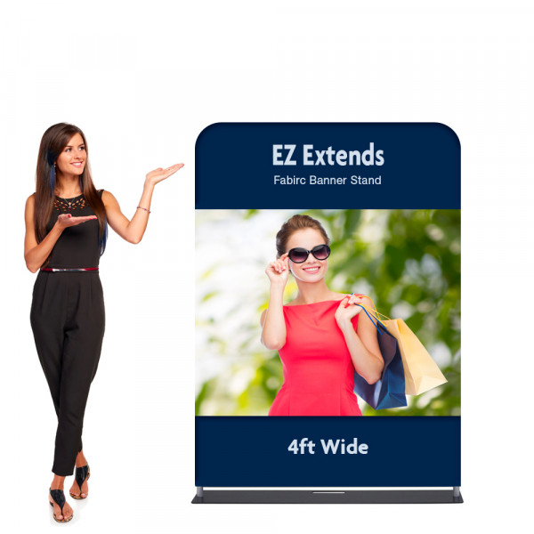EZ Extends Fabric Banner Display 4 ft wide x 5.5 ft tall