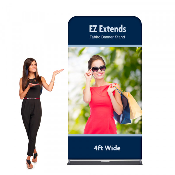EZ Extends Fabric Banner Display 4 ft wide x 8.5 ft tall