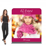 EZ Extend Fabric Banner Display Stand 5 ft wide x 5.5 ft tall
