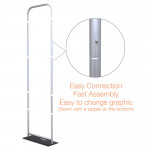 EZ Extend Fabric Banner Stand 2 ft wide x 5.5 ft tall