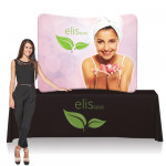 EZ Tube Tabletop Display 6ft Wide with Printed Fabric Graphic