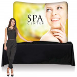 EZ Tube Tabletop Display 8ft Wide with Printed Fabric Graphic