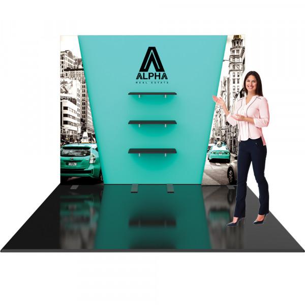 Hybrid Pro 10ft Modular Booth with Shelves - Kit 27