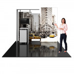Hybrid Pro 10ft Exhibit SEG Graphics w/ Backlit Panel - Kit 3