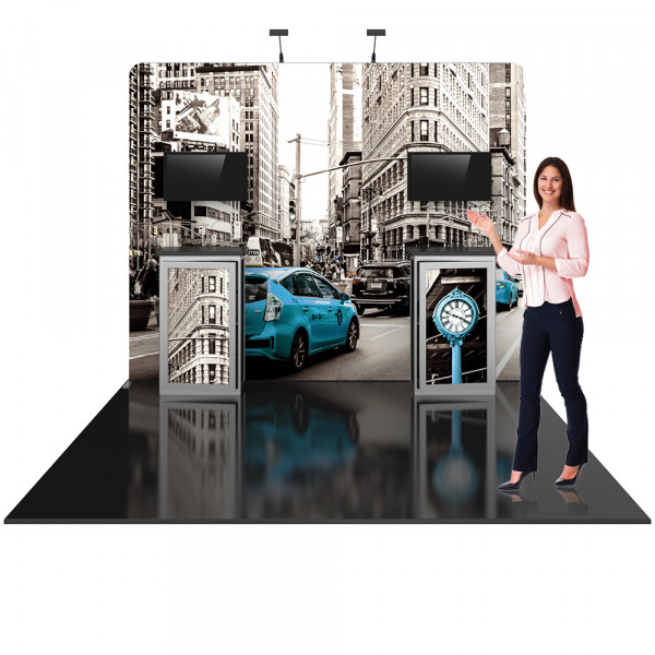Hybrid Pro 10ft Modular Booth with Counter Displays - Kit 6