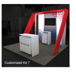 Hybrid Pro 10ft Modular Booth with Backlit Counter - Kit 7
