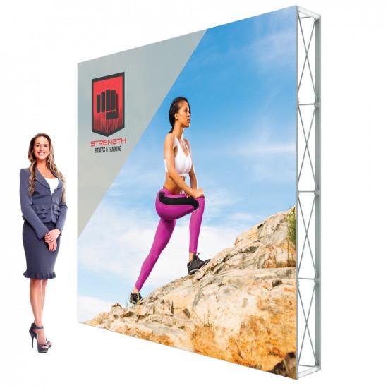 Lumiere SEG Popup Display  10ft x 10ft Backdrop w/ SEG Graphics