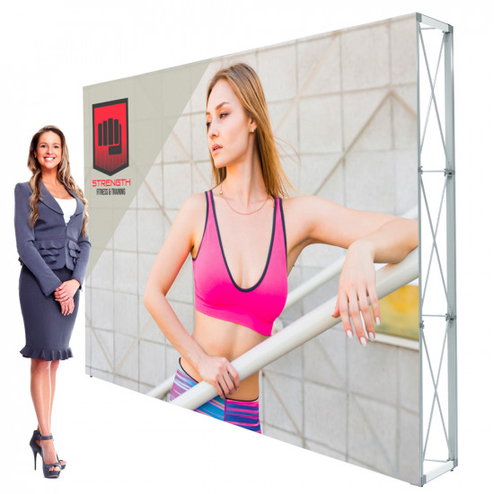 Lumiere SEG Pop Up Booth 10ft Backdrop with Custom Printed Banner
