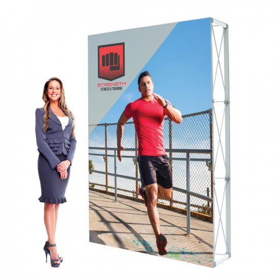 Lumiere SEG Pop Up Banner 5ft Wide 7.5ft Tall with Custom Banner