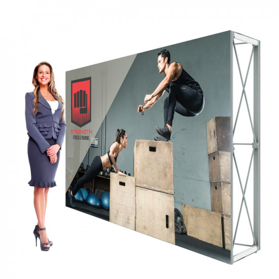 Lumiere Tabletop Popup Display 8'w x 5'h Single Sided Backdrop