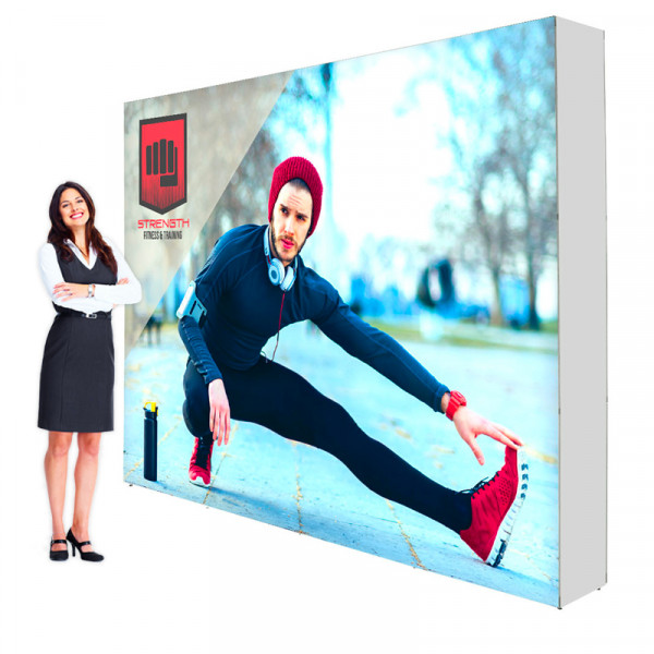 Lumiere SEG Backlit Pop Up Booth 10ft Backdrop Single Sided