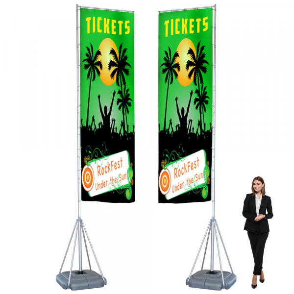 Mondo 17ft Double Sided Flag Banner with Dye Sub Printed Flags