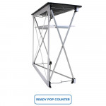 Ready Pop Popup Display Booth 10ft Straight with Fabric Graphic